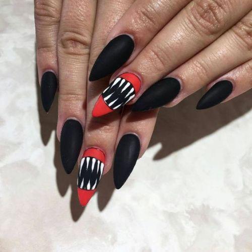 10-Black-White-Red-Halloween-Nails-Art-Designs-Ideas-2018-10