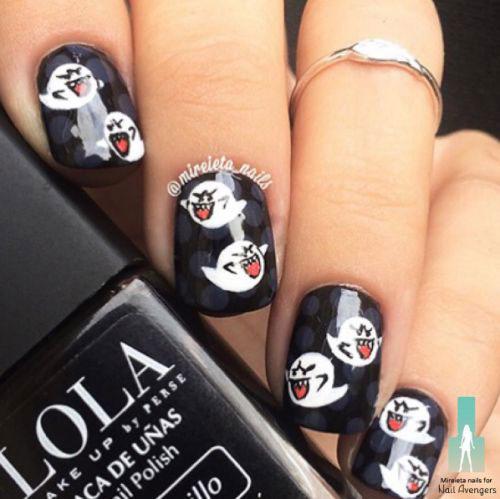 10-Black-White-Red-Halloween-Nails-Art-Designs-Ideas-2018-5