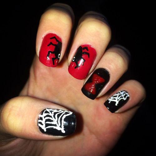 10-Black-White-Red-Halloween-Nails-Art-Designs-Ideas-2018-9