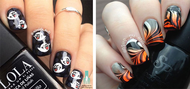 10-Black-White-Red-Halloween-Nails-Art-Designs-Ideas-2018-F