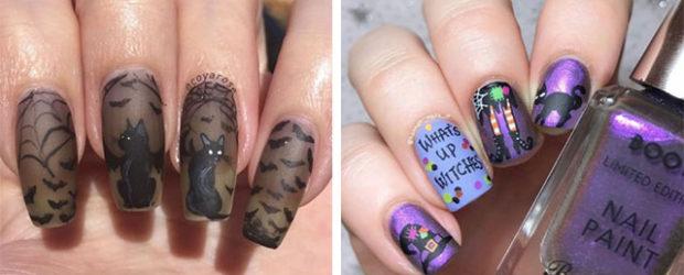 10-Halloween-Cat-Nails-Art-Designs-Ideas-2018-F