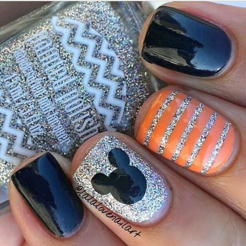 12+ Easy & Simple Halloween Nails Art Designs & Ideas 2018