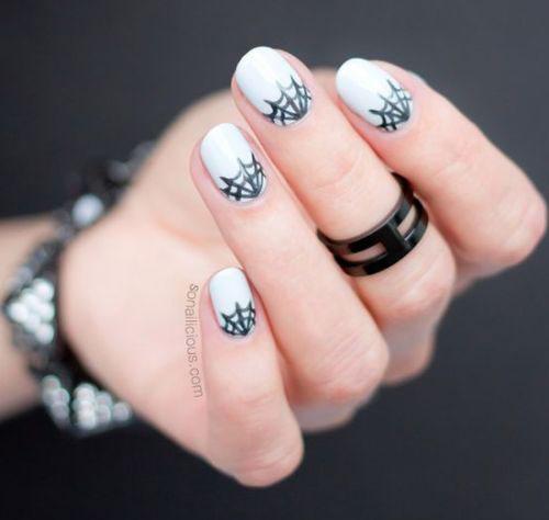 12 Easy Simple Halloween Nails Art Designs Ideas 2018