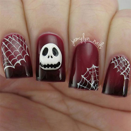 12+ Halloween Acrylic Nails Art Designs & Ideas 2018