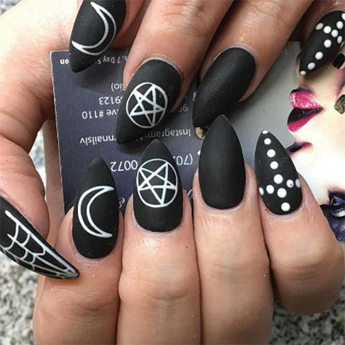 20 Black Nail Artists On Instagram Who Slay The Manicure: 12+ Halloween Acrylic Nails Art Designs & Ideas 2018