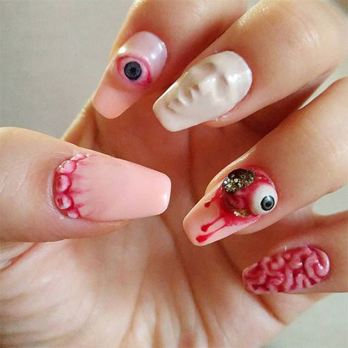 12 halloween acrylic nails art designs amp ideas 2018