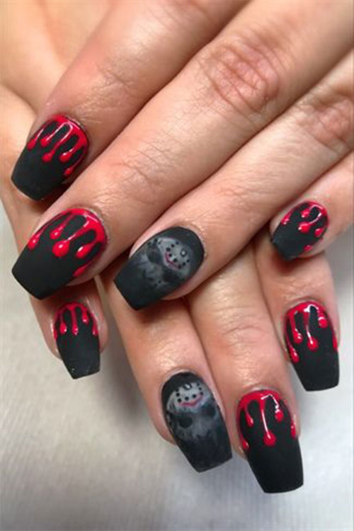 12 Halloween Coffin Nails Art Designs Ideas 2018 Fabulous Nail