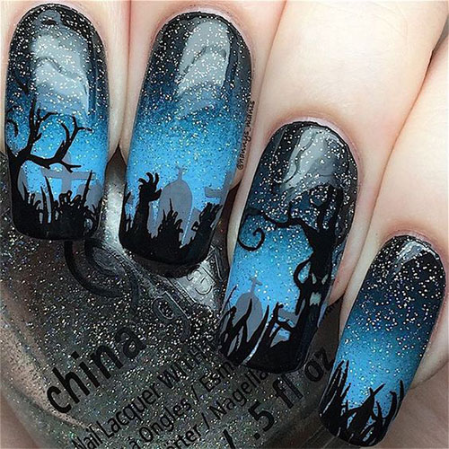12-Halloween-Coffin-Nails-Art-Designs-Ideas-2018-3