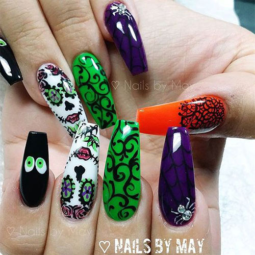 12-Halloween-Coffin-Nails-Art-Designs-Ideas-2018-9