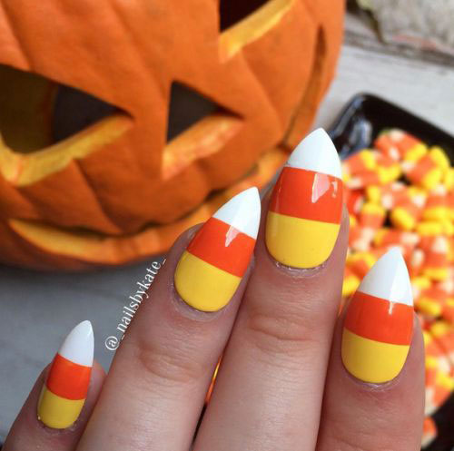 15-Halloween-Candy-Corn-Nails-Art-Designs-Ideas-2018-14