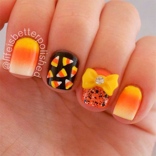 15-Halloween-Candy-Corn-Nails-Art-Designs-Ideas-2018-3