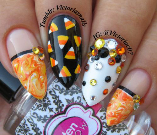 15-Halloween-Candy-Corn-Nails-Art-Designs-Ideas-2018-5