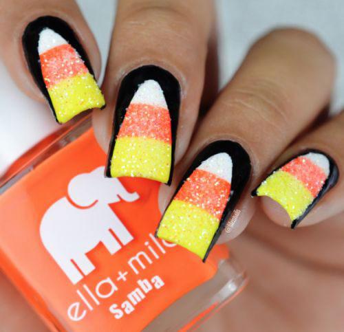 15-Halloween-Candy-Corn-Nails-Art-Designs-Ideas-2018-8