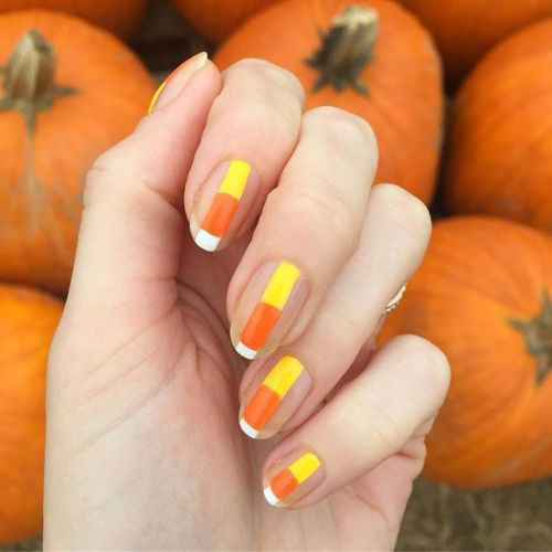 15-Halloween-Candy-Corn-Nails-Art-Designs-Ideas-2018-9