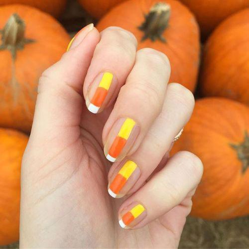 15-Halloween-Candy-Corn-Nails-Art-Designs-Ideas-2018-9