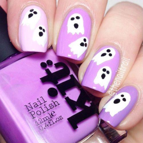 15-Halloween-Ghost-Nails-Art-Designs-Ideas-2018-5