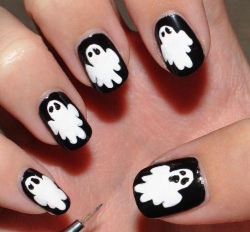 15-Halloween-Ghost-Nails-Art-Designs-Ideas-2018-6