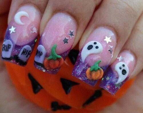 15-Halloween-Ghost-Nails-Art-Designs-Ideas-2018-7