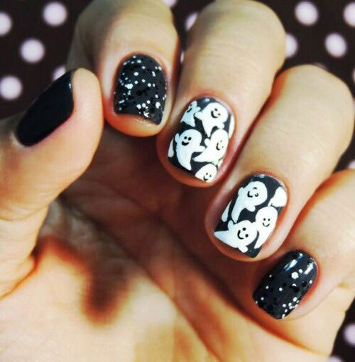 15-Halloween-Ghost-Nails-Art-Designs-Ideas-2018-9