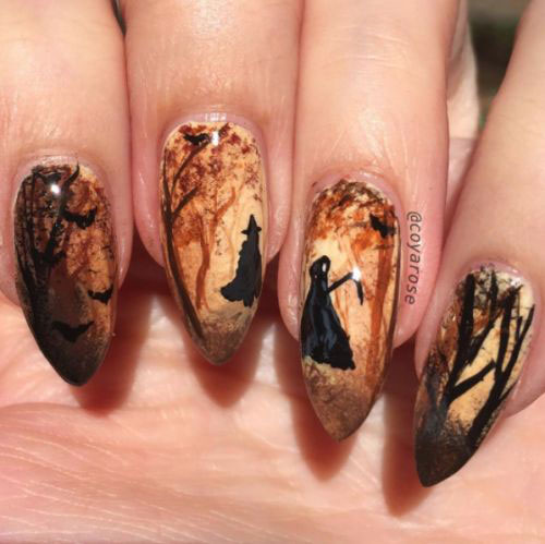 15 Halloween Witch Nails Art Designs Ideas 2018 Fabulous Nail