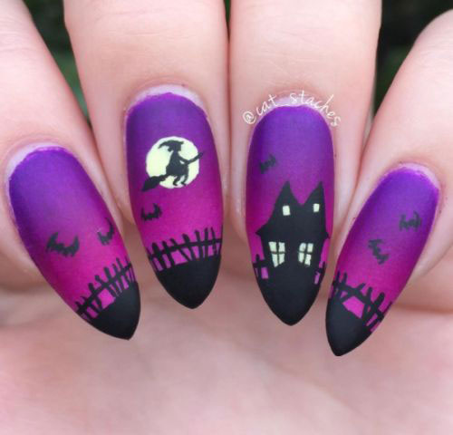 15-Halloween-Witch-Nails-Art-Designs-Ideas-2018-4