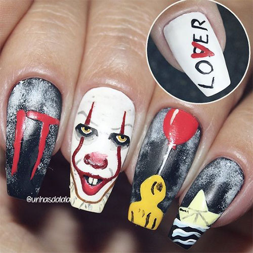 15-Scary-Halloween-Creepy-Clown-Nails-Art-Designs-Ideas-2018-1