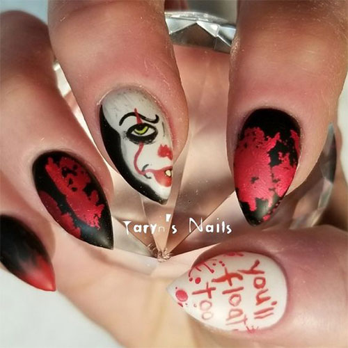 15-Scary-Halloween-Creepy-Clown-Nails-Art-Designs-Ideas-2018-12