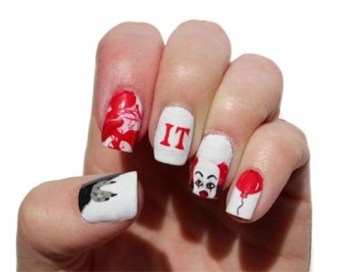 15-Scary-Halloween-Creepy-Clown-Nails-Art-Designs-Ideas-2018-16