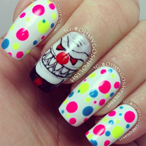 15-Scary-Halloween-Creepy-Clown-Nails-Art-Designs-Ideas-2018-2