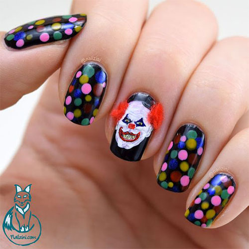 15-Scary-Halloween-Creepy-Clown-Nails-Art-Designs-Ideas-2018-3