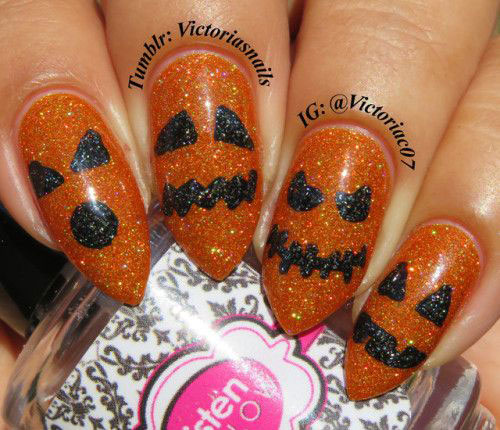 18-Cute-Halloween-Pumpkin-Nails-Art-Designs-Ideas-2018-1