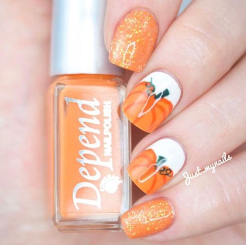 18-Cute-Halloween-Pumpkin-Nails-Art-Designs-Ideas-2018-14