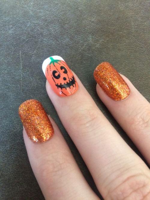 18-Cute-Halloween-Pumpkin-Nails-Art-Designs-Ideas-2018-17