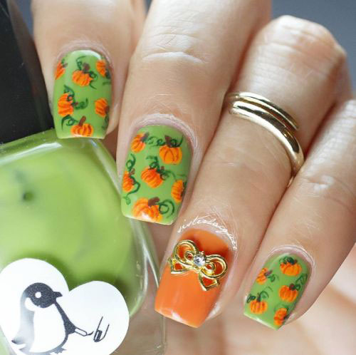 18-Cute-Halloween-Pumpkin-Nails-Art-Designs-Ideas-2018-4