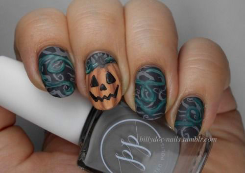 18-Cute-Halloween-Pumpkin-Nails-Art-Designs-Ideas-2018-7