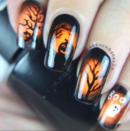 18-Cute-Halloween-Pumpkin-Nails-Art-Designs-Ideas-2018-9