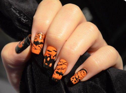 18-Halloween-Bat-Nails-Art-Designs-Ideas-2018-9