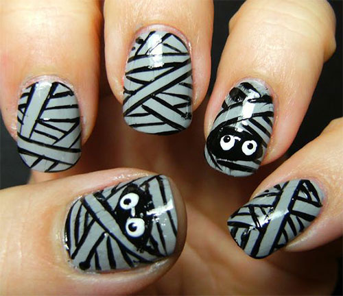 20-Halloween-Mummy-Nails-Art-Designs-Ideas-2018-5