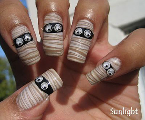 20-Halloween-Mummy-Nails-Art-Designs-Ideas-2018-8