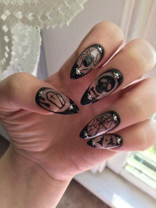 Halloween-Skull-Nails-Art-Designs-Ideas-2018-15