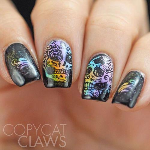 Halloween-Skull-Nails-Art-Designs-Ideas-2018-4