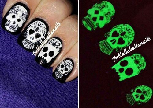 Halloween-Skull-Nails-Art-Designs-Ideas-2018-8