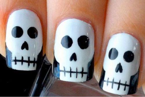 Halloween-Skull-Nails-Art-Designs-Ideas-2018-9