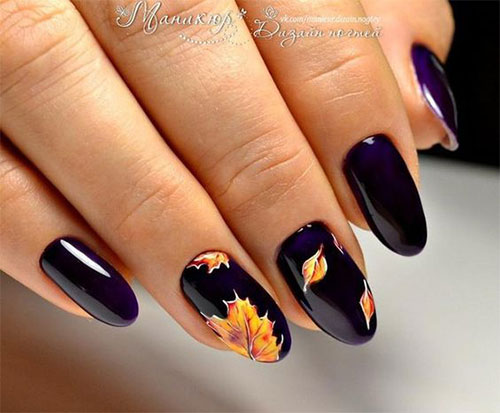 15 Autumn Acrylic Nail Art Designs Ideas 2018 Fall Nails