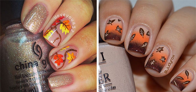 fall nail art 15 autumn acrylic nail designs amp ideas 2018 fall 31167