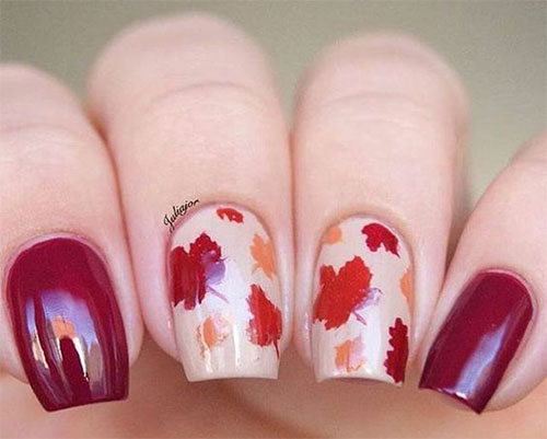 15 autumn gel nail art designs  u0026 ideas 2018