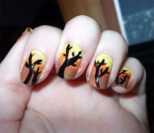 Simple Fall Nail Designs: 15 Easy Fall / Autumn Nails Art Designs & Ideas 2018