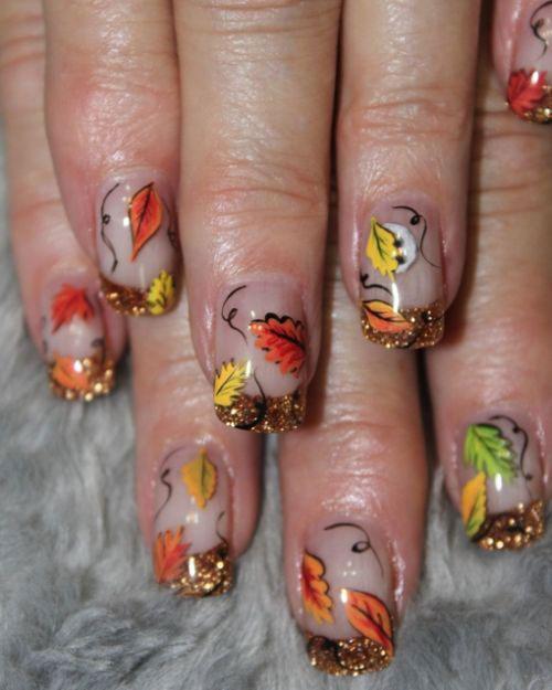 Autumn Toe Nail Art Designs Ideas 2018: 20 Autumn Leaf Nail Art Designs & Ideas 2018 / Fall Nails
