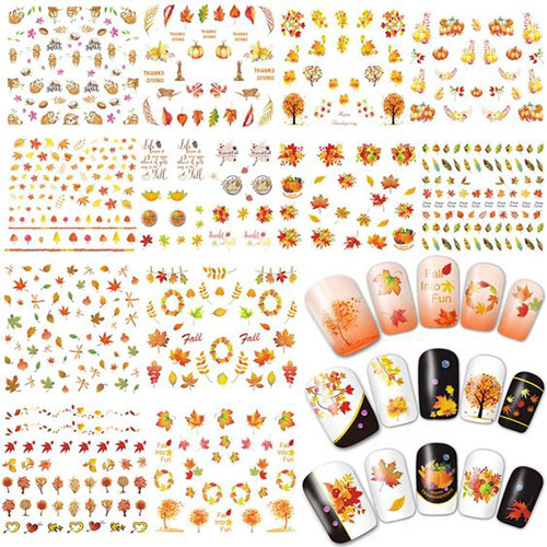 Autumn-Nail-Art-Stickers-Decals-2018-7