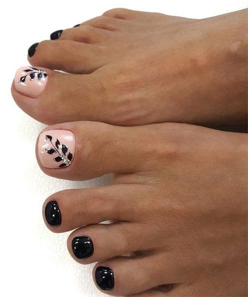 Autumn Toe Nail Art Designs Ideas 2018